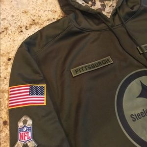 innovative design d6613 f2707 Men's Pittsburgh Steelers Salute to Service Hoodie